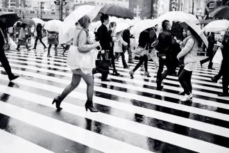 Shibuya Crossing, Tokyo (Nikon F3, Ilford XP2 400 - Leica M6)
